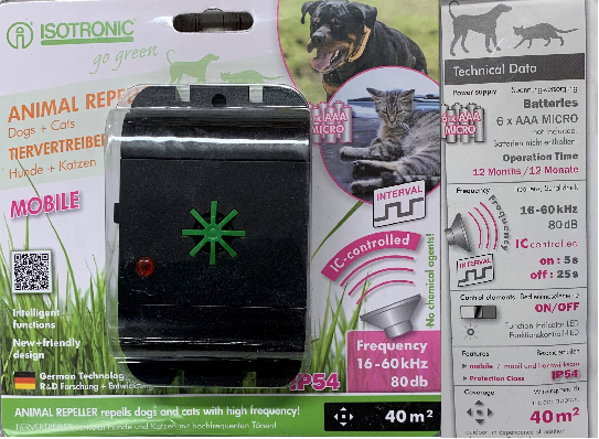Isotronic Cat and Dog Repeller